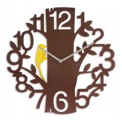 Yellow Woodpecker Wall Clock