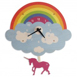 Unicorn Rainbow Wall Clock