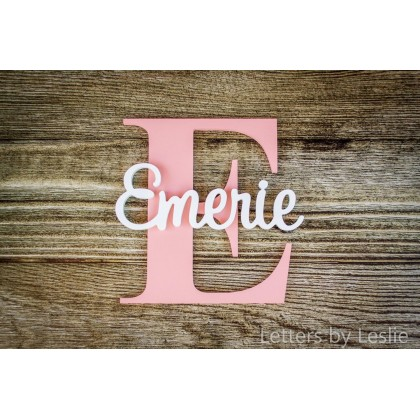Nursery Name and Capital Letter Baby Name Sign