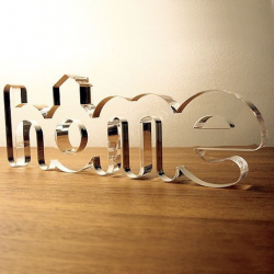 HOME Clear Acrylic Decorative Letters