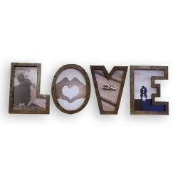LOVE Letter Wooden Photo Frame