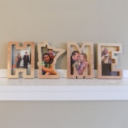 HOME Letter Wooden Photo Frame