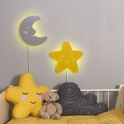 Moon and  Star LED Night Light