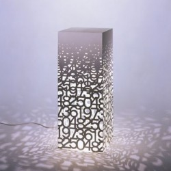 Numbering Laser Cut Lamp