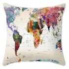 World MAP Print Cushion Cover