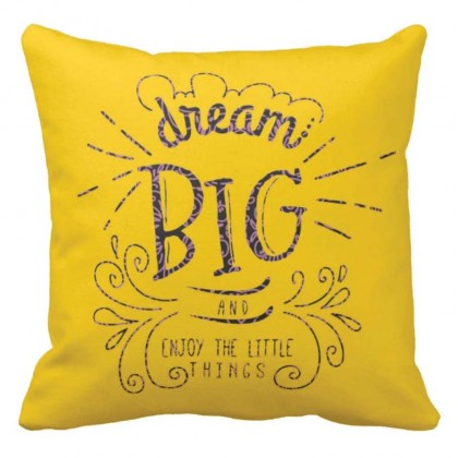 Dream Big Quotes Cushion Covers