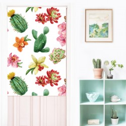 Happy Cactus Japanese Curtain