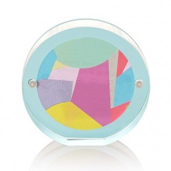 ROUND SHAPED CLEAR ACRYLIC MAGNETIC PICTURE FRAME