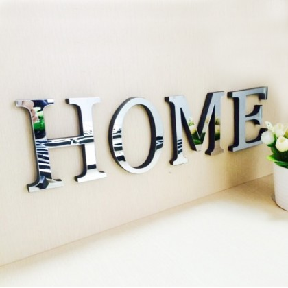 LOVE / HOME decorative lettering with mirror acrylic