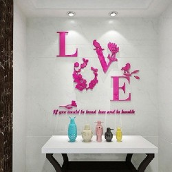 Modern 3D Love Letter Quote