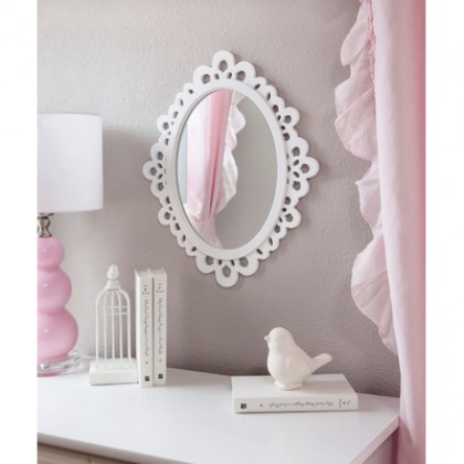 Wood Lace Wall Mirror