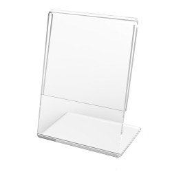 L SHAPE CLEAR ACRYLIC PHOTO FRAME