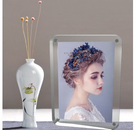 ROUND CORNER CLEAR ACRYLIC MAGNETIC PHOTO FRAME