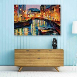 Venice River View DIY Canvas