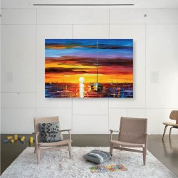 Romentic Sunset DIY Canvas