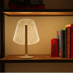 Acrylic Laser Cut Table Lamp, W22 H33cm