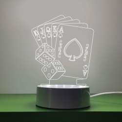 Poker Cards and Dice LED Decor Light