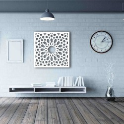 Repeating Pattern Wall Frame Decor