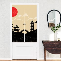 Japanese landscape Curtain