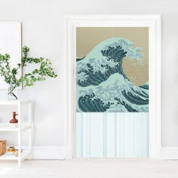Beautiful Wave Japanese Curtain