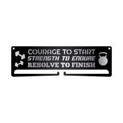 """Courage . Strength . Resolve"" Medal Display Hanger Holder"
