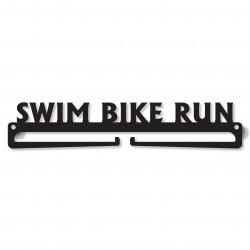 """Swim Bike Run"" Medal Display Hanger Holder"