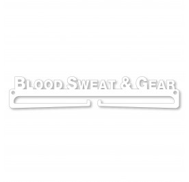 """BLOOD SWEAT & GEAR"" Medal Display Hanger Holder"