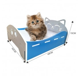 Durable Cat Dog Wooden Bed Pet Bed Katil Kucing