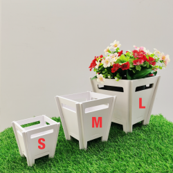 Weatherproof anti mold outdoor square flower plant pot vase basket pasu bunga  防水防霉园艺花盆