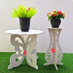 Modern coffee table flower table plant stand butterfly classic flower meja kopi klasik