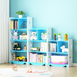 Multi purpose kids book shelf multi layers organizer storage book rack rak buku 无毒多用途多层书架