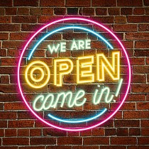 Plug & Play Neon Sign - Open Sign