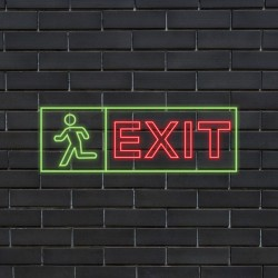 Plug & Play Neon Sign - EXIT SIGN