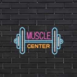 Plug & Play Neon Sign - MUSCLE CENTER