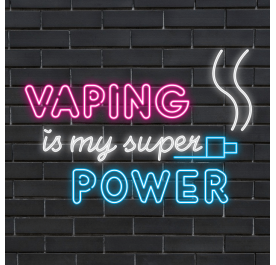 Plug & Play Neon Sign - VAPING IS MY SUPER POWER