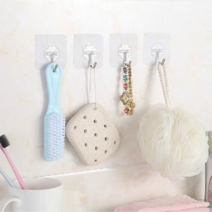Sticker hook transparent flower wall stick hook without nail punching