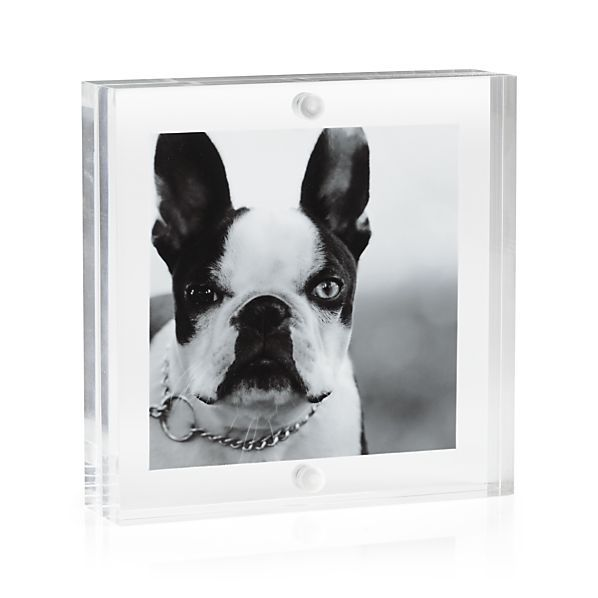 SQUARE/RECTANGLE SHAPE CLEAR ACRYLIC MAGNETIC PICTURE FRAME