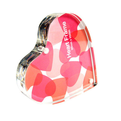 HEART SHAPE CLEAR ACRYLIC MAGNETIC PICTURE FRAME