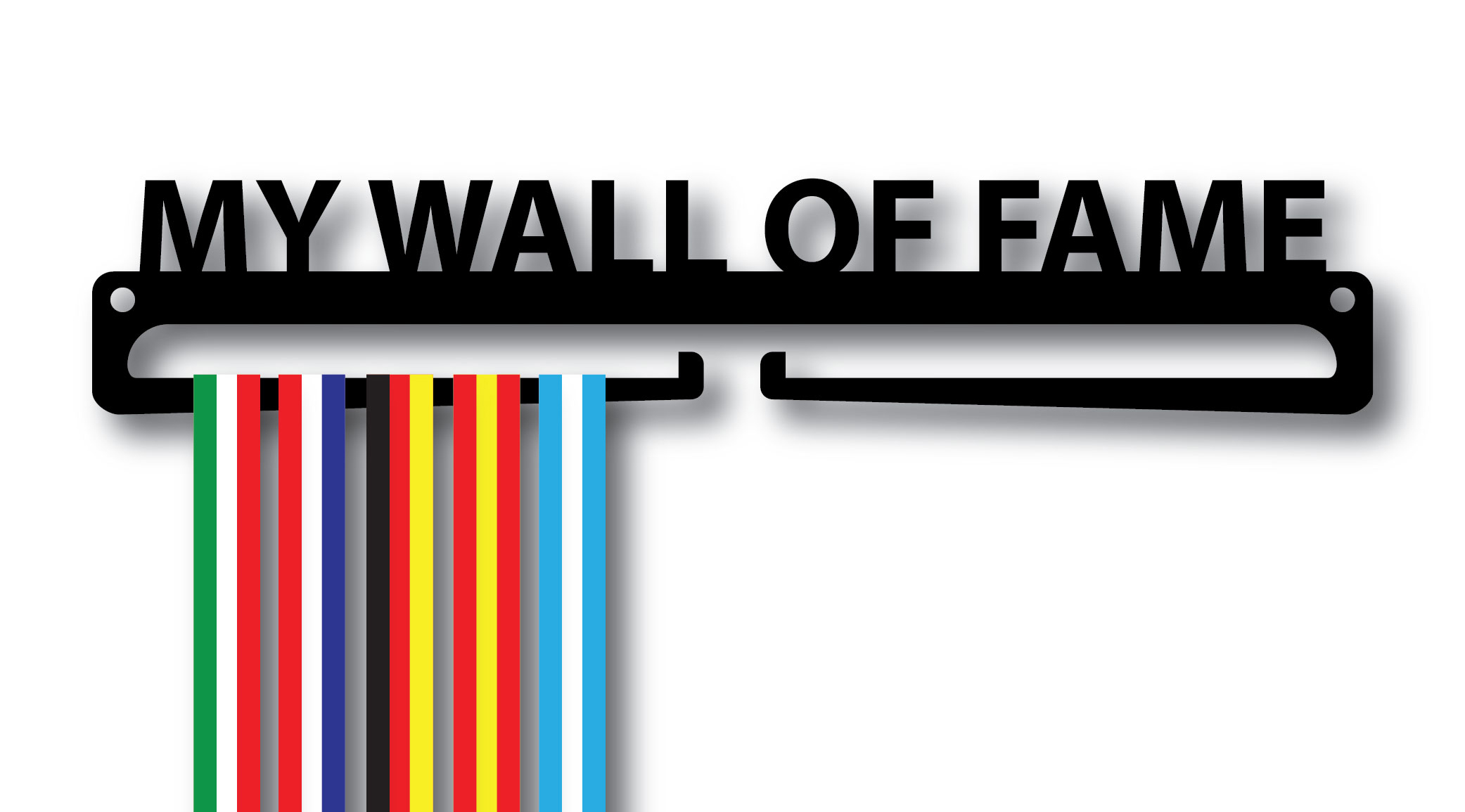 """My Wall of Fame"" Medal Display Hanger Holder"