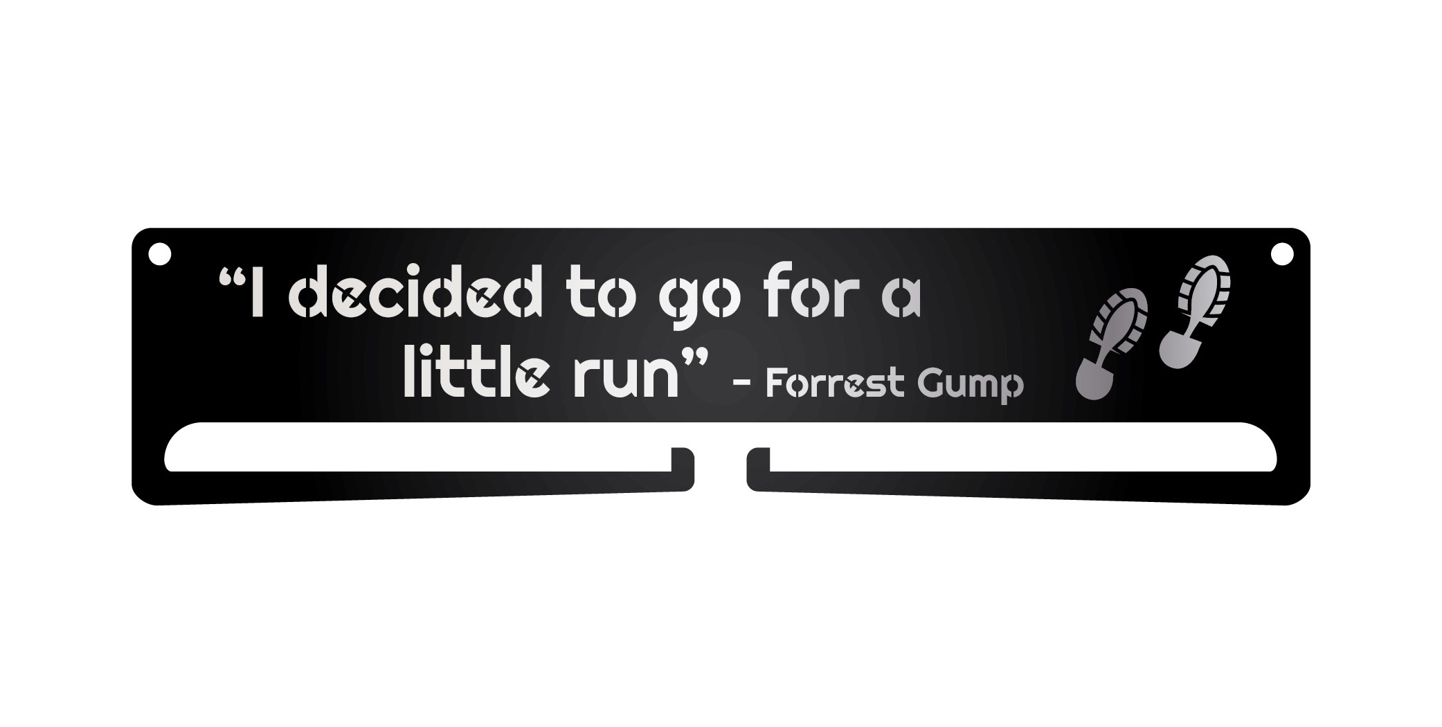 """Forrest Gump Quote"" Medal Display Hanger Holder"