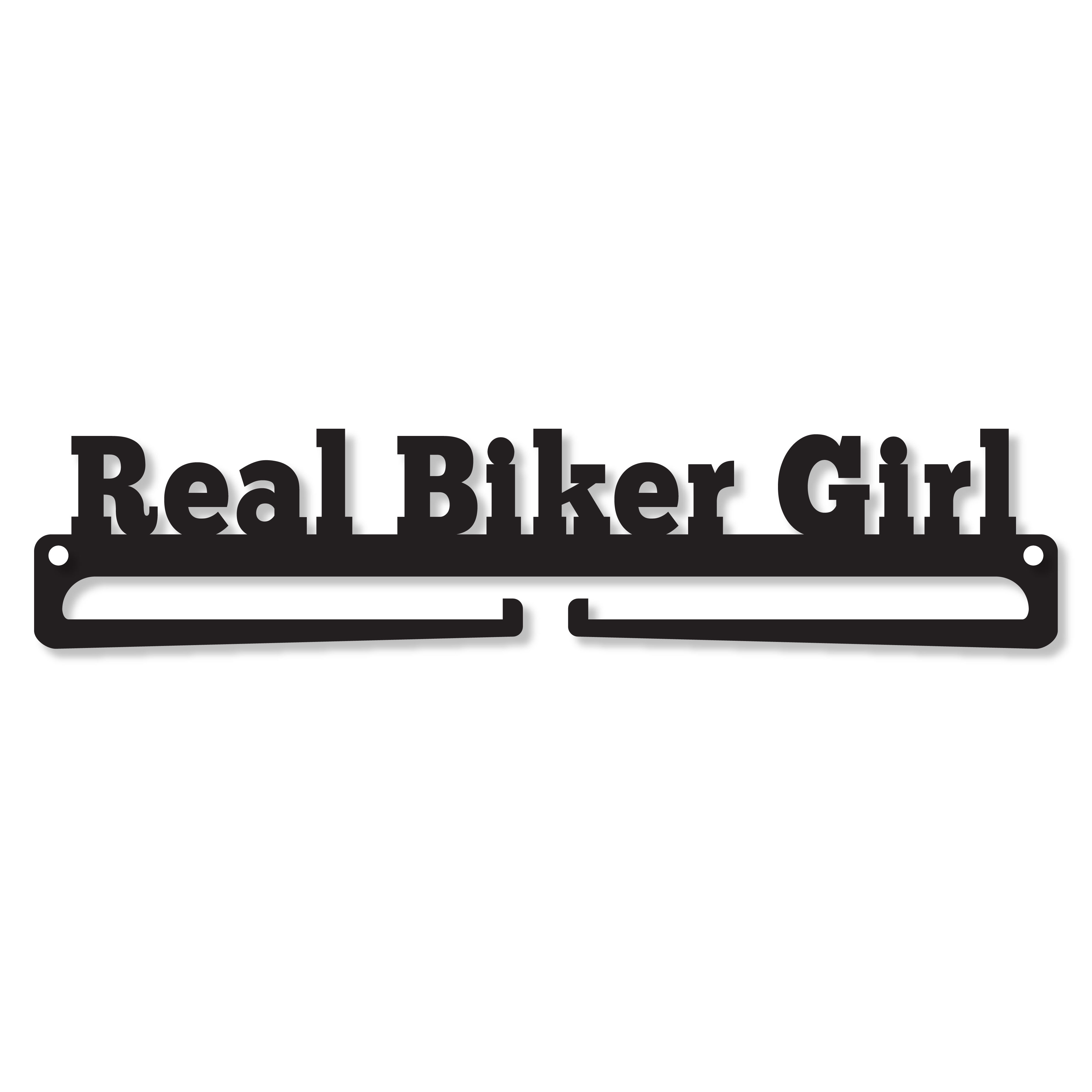 """Real Biker Girl"" Medal Display Hanger Holder"