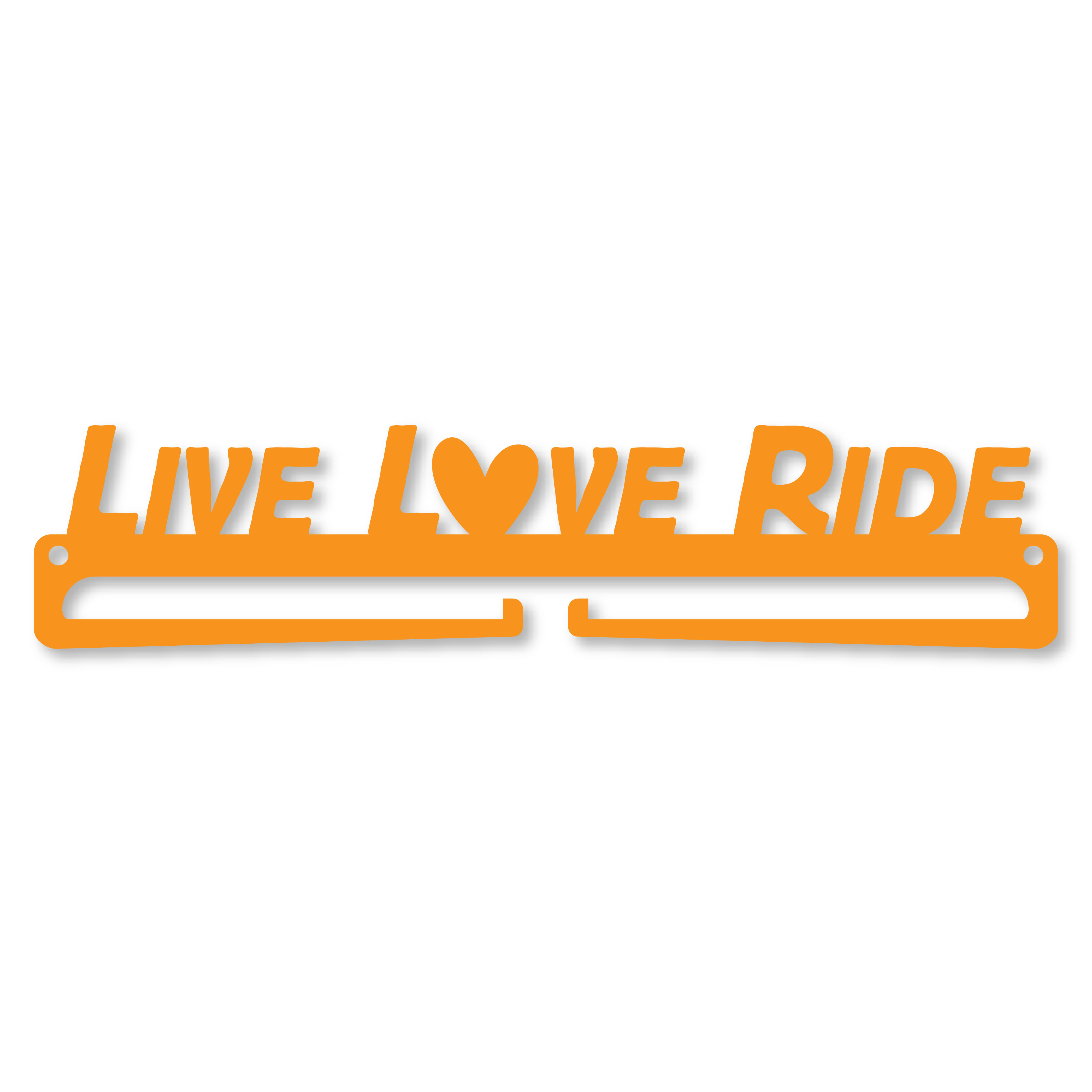 """LIVE LOVE RIDE"" Medal Display Hanger Holder"