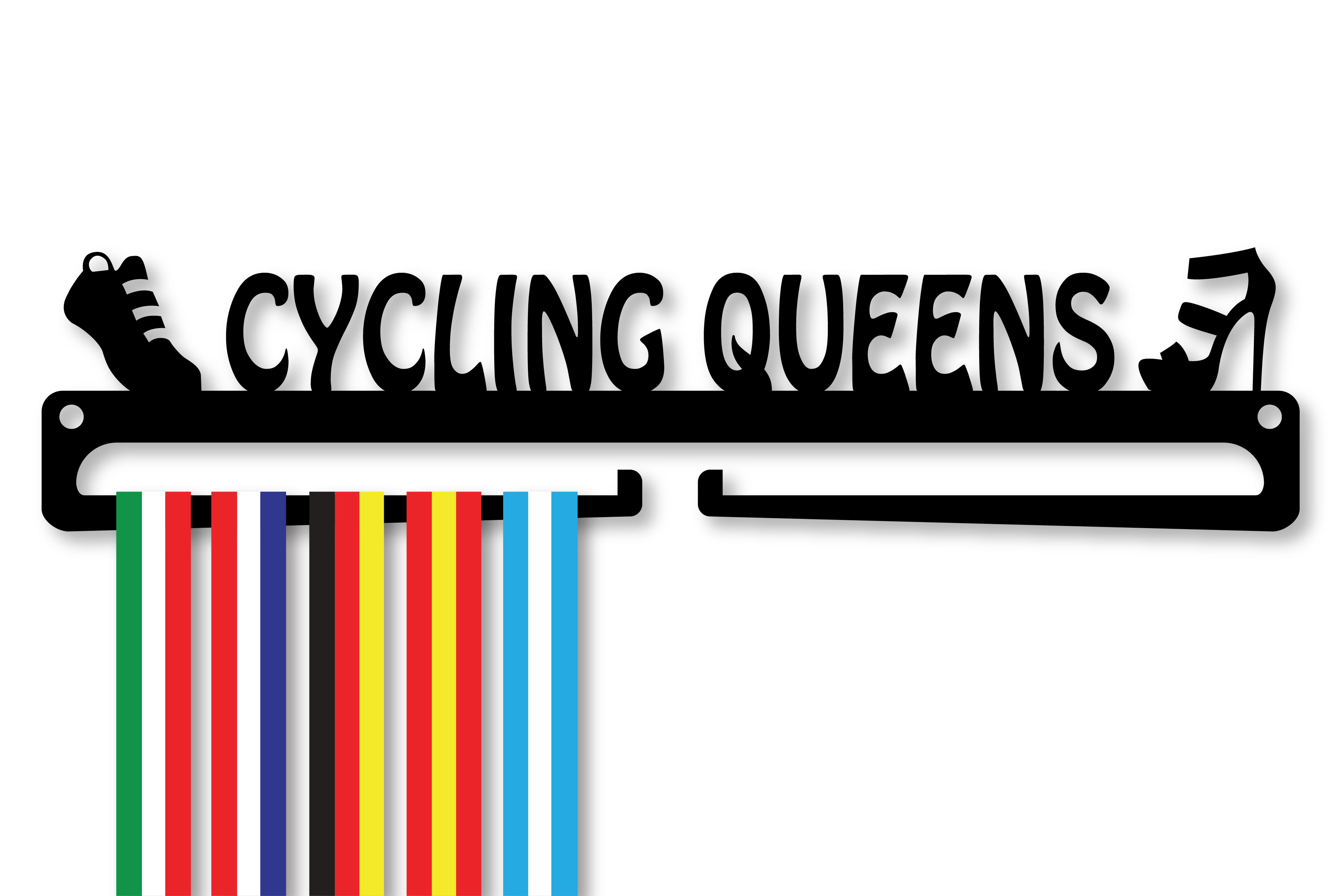 """CYCLING QUEENS"" Medal Display Hanger Holder"