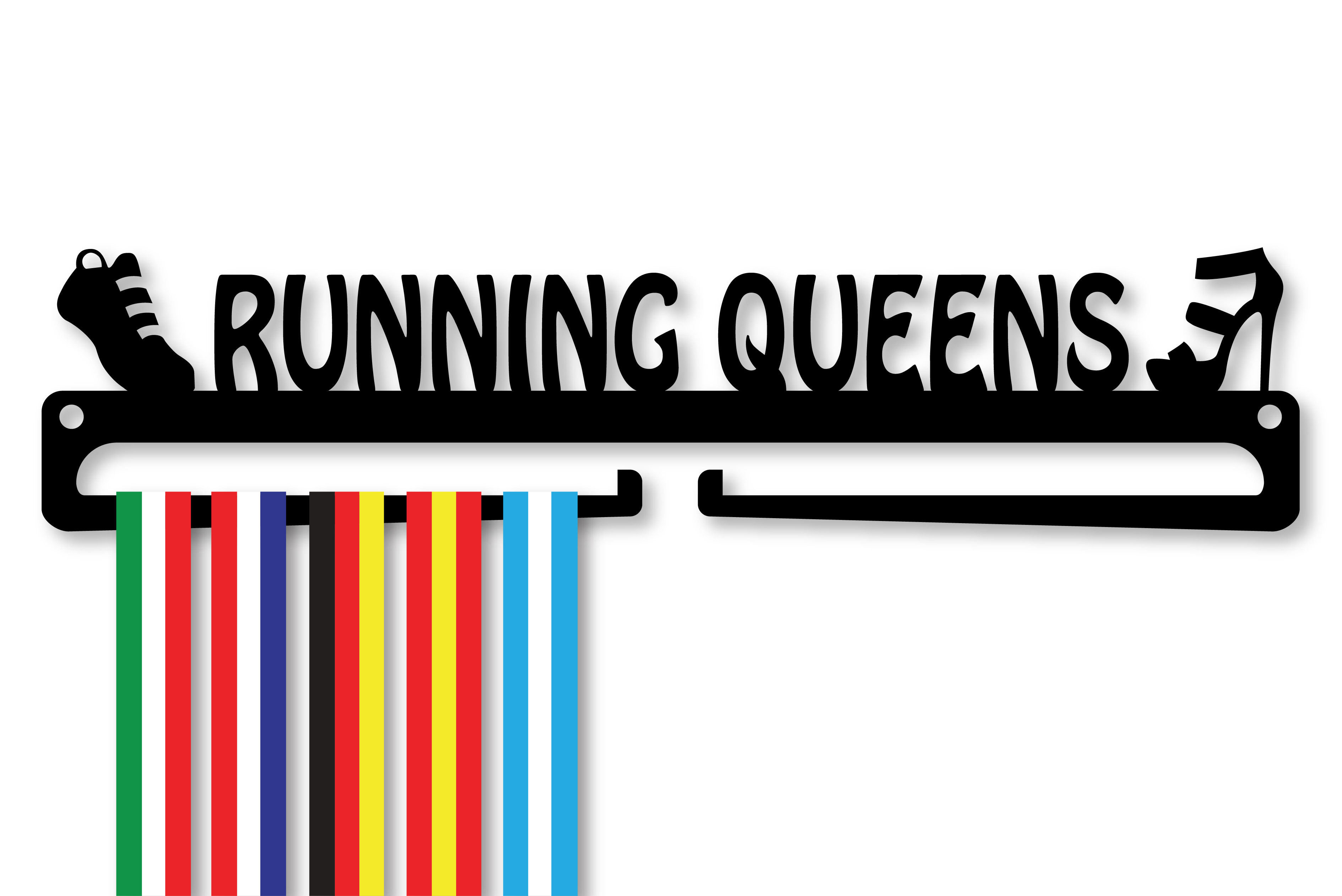 """RUNNING QUEENS"" Medal Display Hanger Holder"